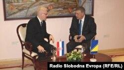 Ivo Josipović i Nebojša Radmanović u Mostaru, 21. mart 2013. foto: Mirsad Behram