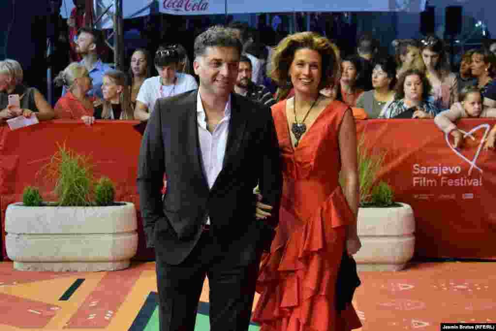 Bh. režiser Danis Tanović sa suprugom Maelys de Ruddan