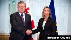 Avropa İttifaqı xarici işlər komissarı Federica Mogherini və Gürcüstanın baş naziri Giorgi Kvirikaşvili fevralın 5-də Brüsseldə görüşüblər