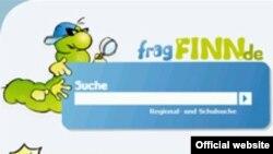 Скрин-шот сайта поисковой системы www.fragfinn.de