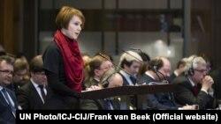 Елена Зеркаль в суде в Гааге