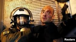 Grecia, imagine de la protestele din 2015