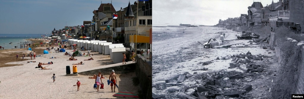 The Beaches Of Normandy, On D-Day And Today
