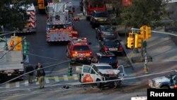 ԱՄՆ - Փրկարարները ժամանում են դեպքի վայր, Նյու Յորք, 31-ը հոկտեմբերի, 2017թ․