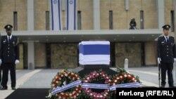 Արիել Շարոնը աճյունը Իսրայելի Քնեսեթում, 12-ը հունվարի, 2014թ․