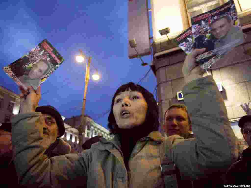 Схожі акції відбувалися в неділю і в інших містах Росії.