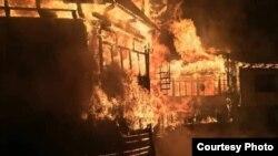 Жители села проснулись от страшного пожара, 30 ноября 2018 г.