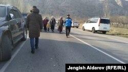На границе Кыргызстана и Таджикистана. 14 марта 2019 года.