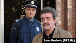 Momir Bulatović dolazi na Viši sud u Podgorici, 12. novembar 2010.