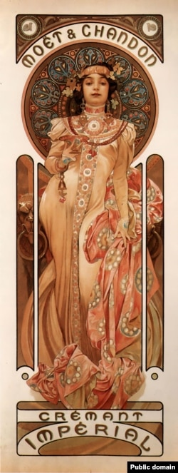 An advertisement made by Mucha when he was based in France