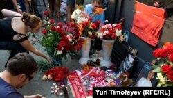 Москва, место убийства Юрия Волкова, 26 июля 2010