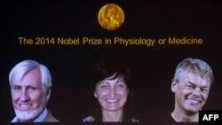 از چپ به راست: جان او کیف، می-بریت موزر و ادوارد موزر