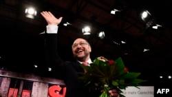 Liderul SPD Martin Schulz după alegerea sa ca șef al acestui partid în martie 2017.