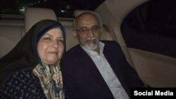 محسن میردامادی پس از آزادی از زندان (عکس از سایت کلمه)