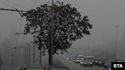 Смогът в София във вторник