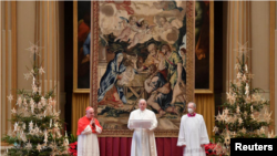 Рим папасы Францисктің рождестволық үндеуі.