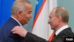 Өзбекстан президенті Ислам Каримов (сол жақта) пен Ресей президенті Владимир Путин. Mәскеу, 20 сәуір 2010 жыл