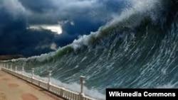 Tsunami, ilustracija