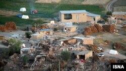 Населенный пункт в Иране, пострадавший от землетрясения