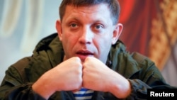 Aleksandr Zakharchenko outside Donetsk in October 2014