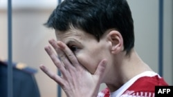 Nadia Savchenko appears in a Moscow court in March.