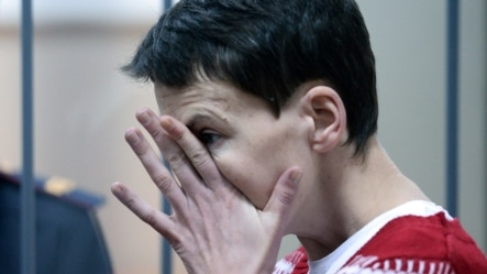 Nadia Savchenko at a Moscow court in March
