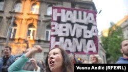 Sa protesta u Beogradu, 3. maj 2017.