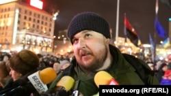 Мікола Дземідзенка на Майдане, сьнежань 2013-га
