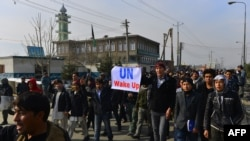 File photo of a Hazara demonstration in Kabul.
