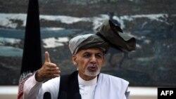 Авганистанскиот претседател, Ашрав Гани.