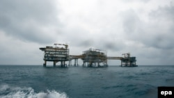 Iran's South Pars Quarter One (SPQ1) gas platform in the Persian Gulf