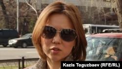 Владимир Козловтың зайыбы Әлия Тұрысбекова. Алматы, 26 наурыз 2013 жыл.