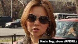 Алия Турусбекова, жена осужденного оппозиционного политика Владимира Козлова.