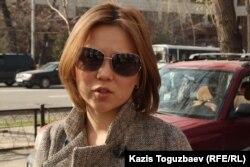 Владимир Козловтың әйелі Әлия Тұрысбекова. Алматы, 26 наурыз 2013 жыл.