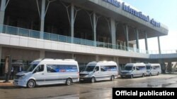 Шаттл-басы «Аэроэкспресс» в аэропорту «Манас».