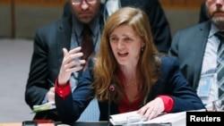 Американскиот амбасадор во ОН, Саманта Пауер.