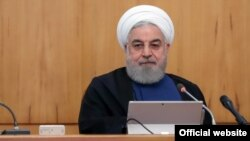 Iranian president Hassan Rouhani during the weekly cabinet meeting, October 09, 2019.