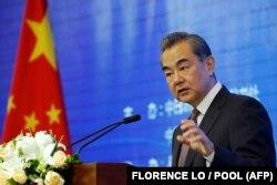 Ministrul chinez de Externe, Wang Yi, la un forum de la Beijing, în mai 2019