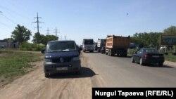 Дорога из Нур-Султана в пригородное село Косшы.