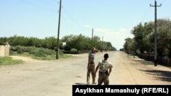 Казахстанские пограничники в Кызылординской области. Иллюстративное фото.