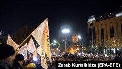 Акція протесту опозиції біля будівлі парламенту, Тбілісі, Грузія, 25 листопада 2019 року