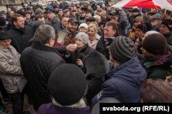 Мітынг супраць дэкрэту аб дармаедах, Слонім, 17 сакавіка 2017