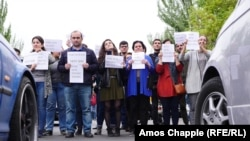 Участники антиправительственной акции. Ереван, 20 апреля 2018 года.