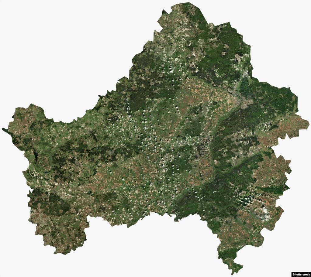 Супутниковий знімок усієї Брянської області