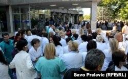 Medicinari u štrajku, oktobar 2011.