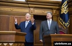 Президент України Петро Порошенко (праворуч) та президент Ізраїлю Реувен Рівлін у Верховній Раді. Київ, 27 вересня 2016 року