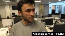 Оператор Радіо Свобода Ґарік Азізбекян, якого побила поліція й розбила йому камеру, 23 червня 2015 року