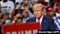Президент США Дональд Трамп виступає перед своїми прихильниками в Орландо, Флорида 18 червня 2019 року