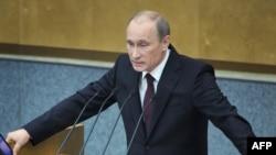 Путин в Госдуме, Москва, 20 апреля 2011