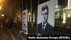 Протест во Скопје поради одлуката на претседателот Ѓорге Иванов за помилување на политичари и други лица